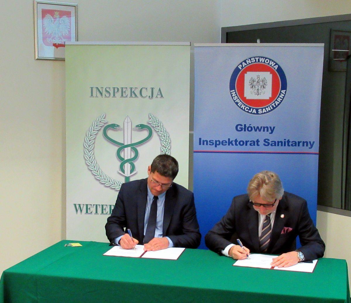 Podpisanie Porozumienia ramowego pomiędzy Głównym Inspektorem Sanitarnym i Głównym Lekarzem Weterynarii