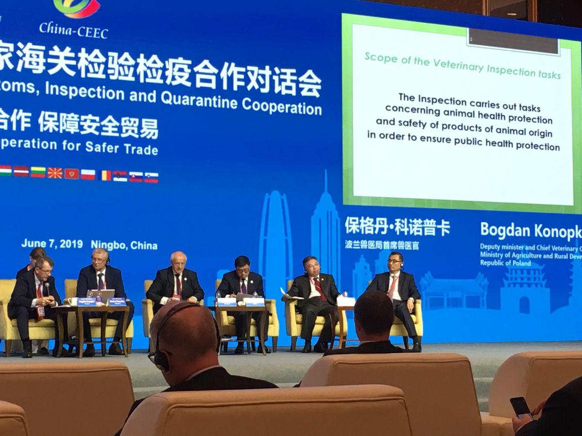 Udział Głównego Lekarza Weterynarii w konferencji IV Dialogu Chiny-EŚW dot. Inspekcji i Kwarantanny w Ningbo