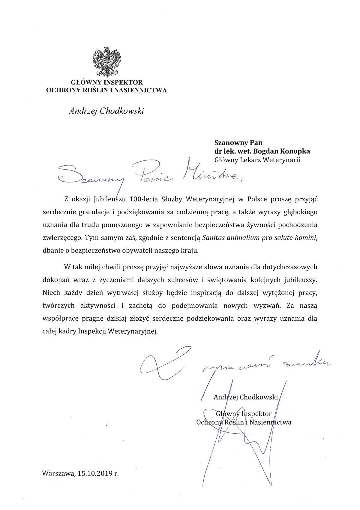 Obchody 100-lecia Polskiej Administracji Weterynaryjnej
