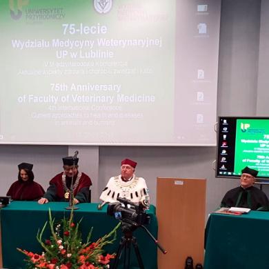 Udział przedstawiciela GIW w obchodach 75-lecia Wydziału Medycyny Weterynaryjnej UP w Lublinie